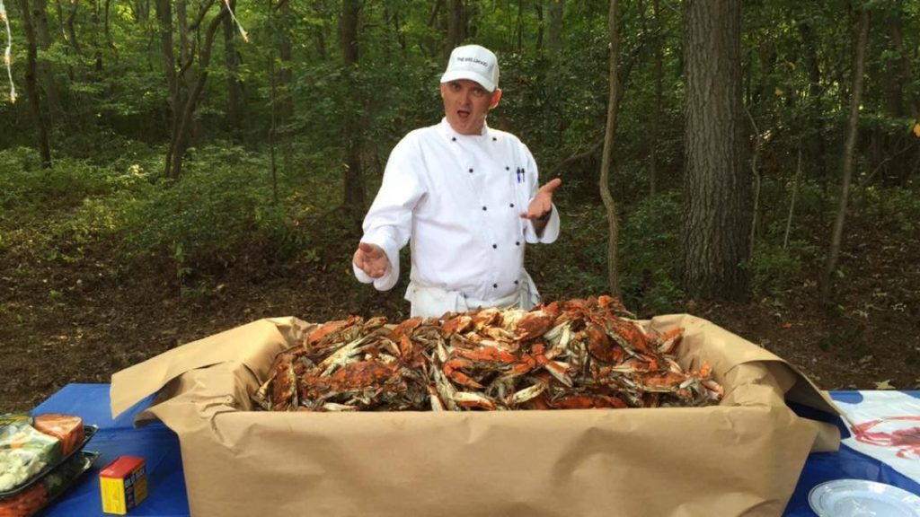 All-you-can-eat steamed Crabs in northeast Maryland