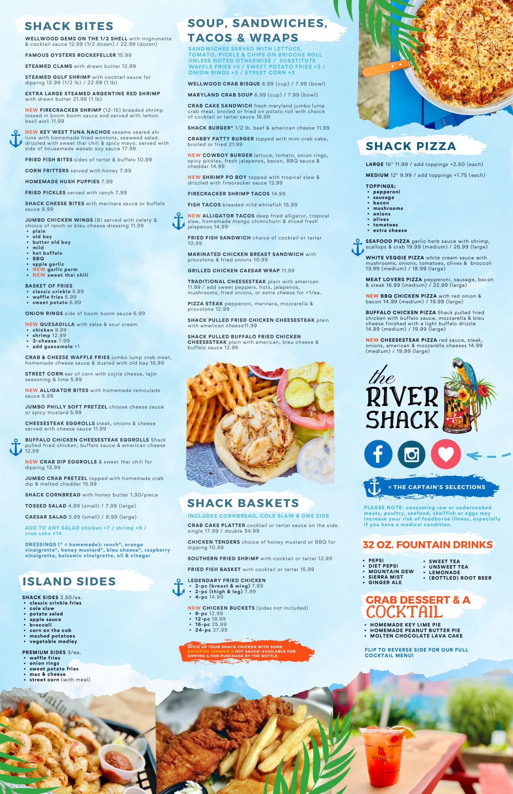 RIVER SHACK DINING MENU 4-2021